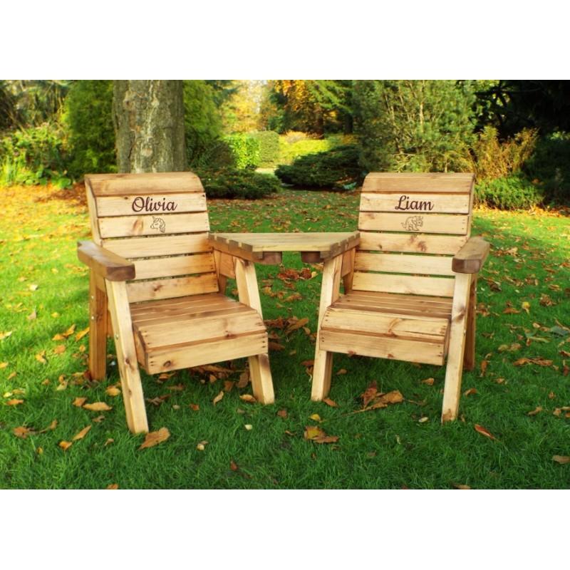 Stupendous Childrens Twin Chair Garden Set Creativecarmelina Interior Chair Design Creativecarmelinacom