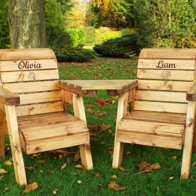 Fantastic Childrens Twin Chair Garden Set Creativecarmelina Interior Chair Design Creativecarmelinacom