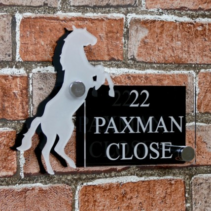 Acrylic Horse House Sign