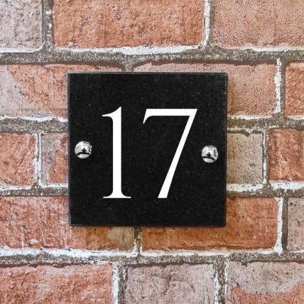 Black Granite House Sign 152mm x 152mm