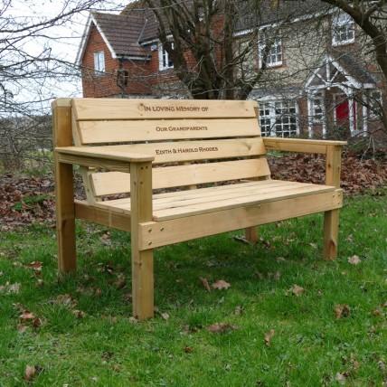 Garden Memorial Bench