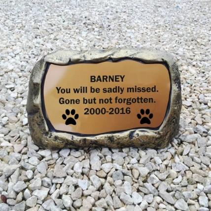 Large Dog Memorial Stone