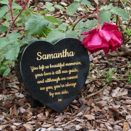 Small Granite Heart Memorial