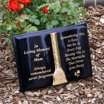 Granite Memorial Book | Book shaped Memorials