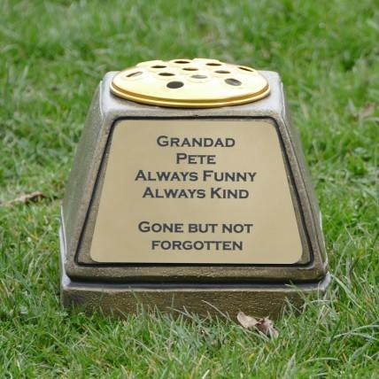 Gold Memorial Flower Pot