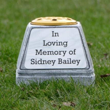 Grey Memorial Flower Pot