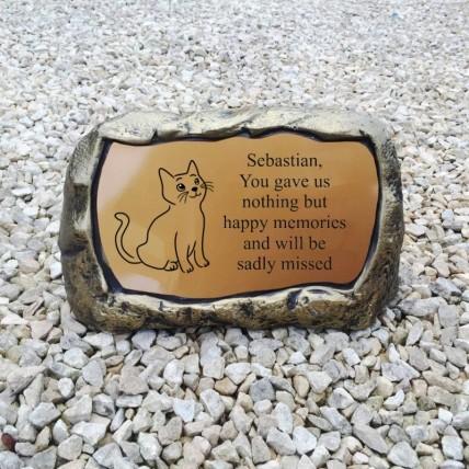 Large Cat Memorial Stone