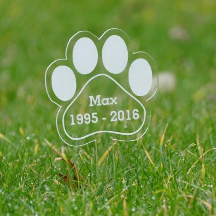 Paw Shape Memorial Stake