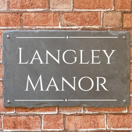Large Rustic Slate House Sign 500mm x 300mm